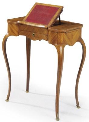 a late louis xv tulipwood table liseuse by adrien faizelot delorme circa 1770 christie 39 s. Black Bedroom Furniture Sets. Home Design Ideas