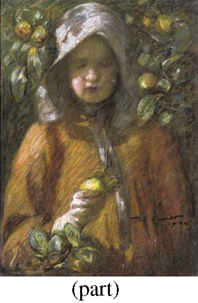 The apple picker; and Gathering flowers
