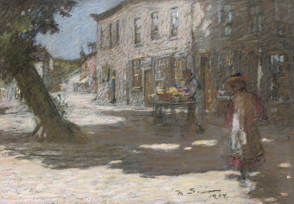The fruit seller; and A stroll through the village