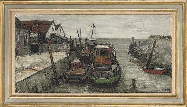 Tethered fishing boats