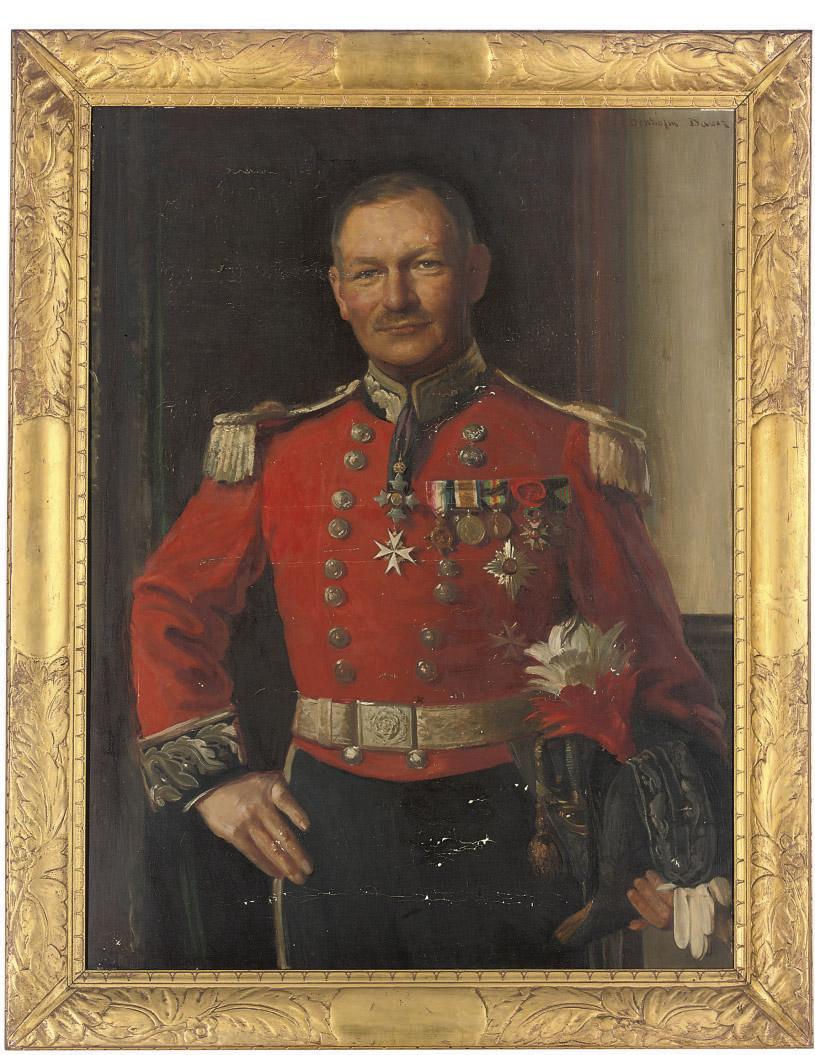 Portrait of Deputy-Lieutenant Bayley, half-length, in a full military uniform