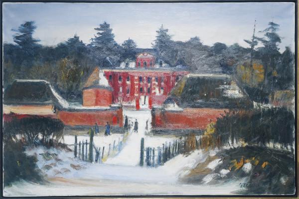 La Maison Rouge dans la Neige