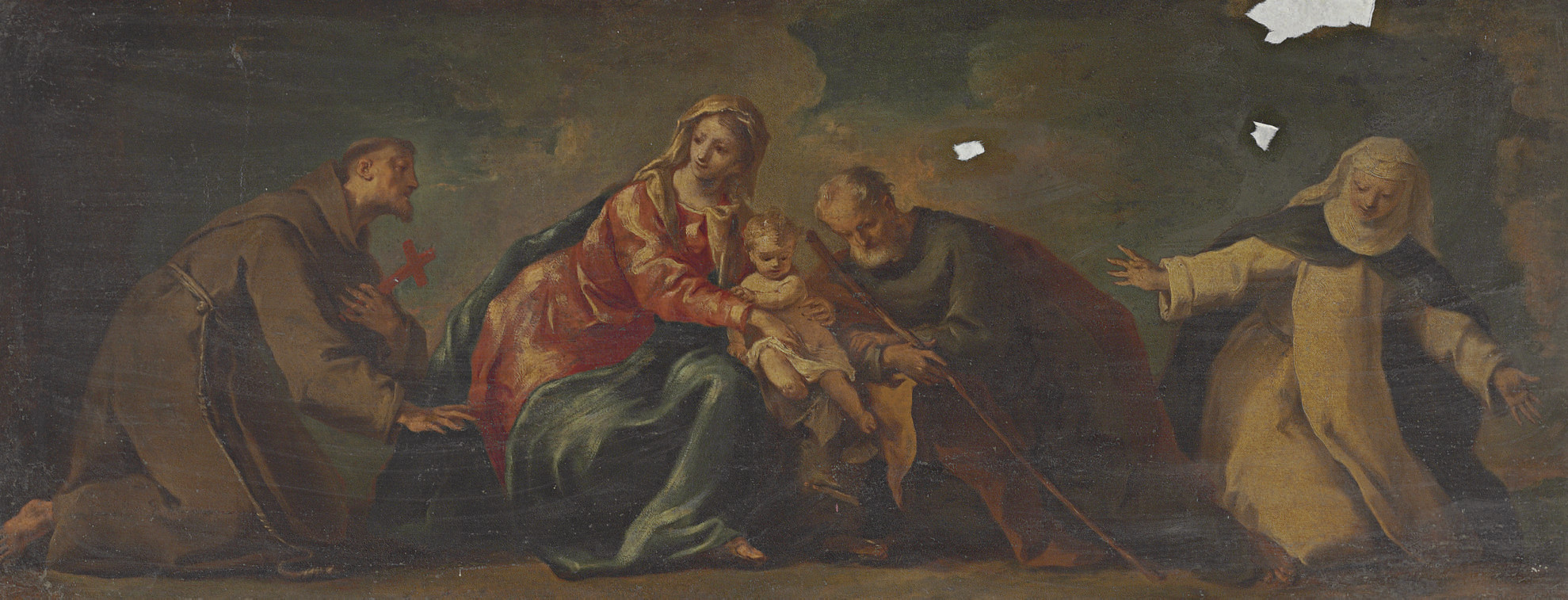 The Holy Family with Saints Francis and Catherine of Siena