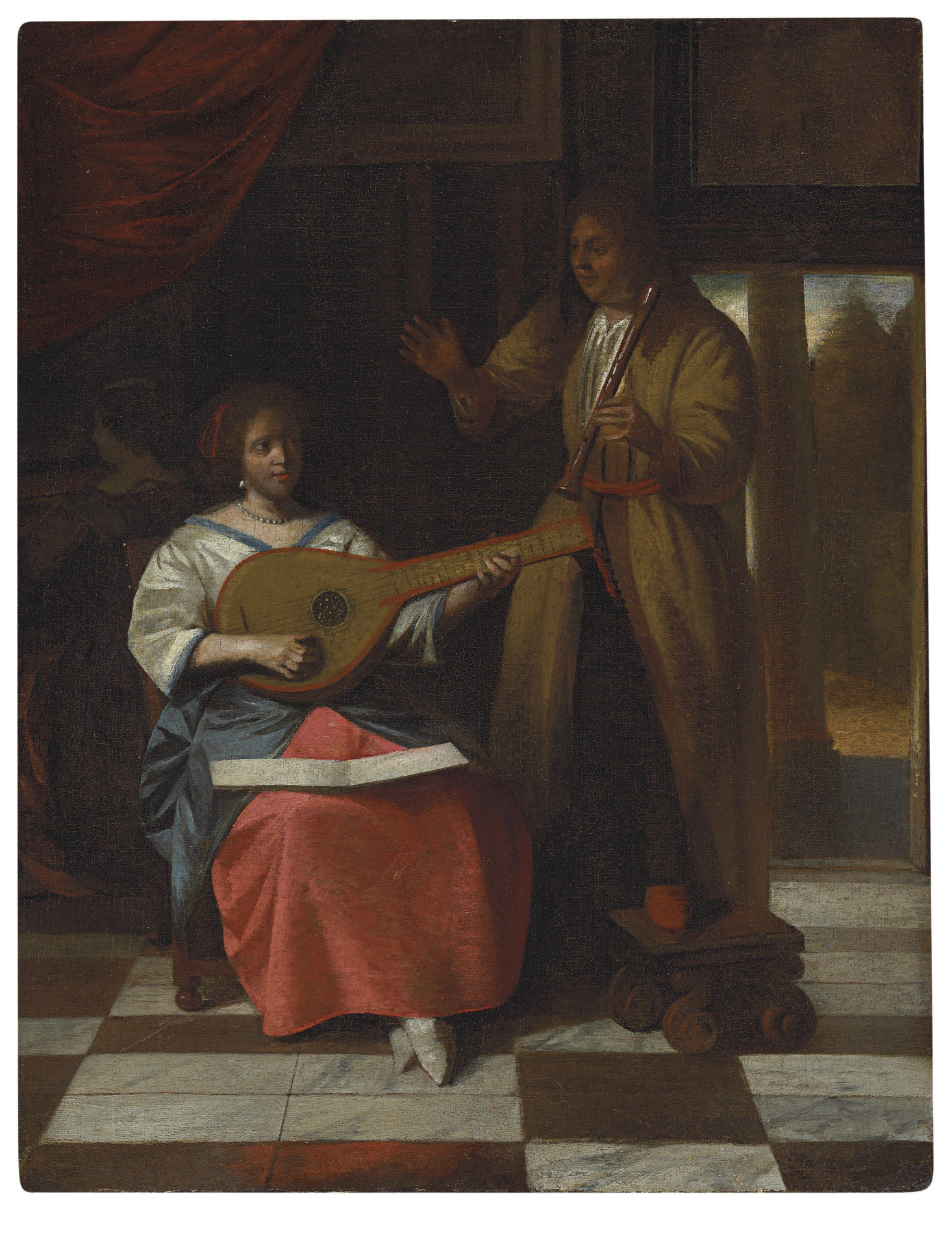 A Musical Company in an interior