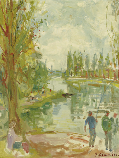 Anglers by the river