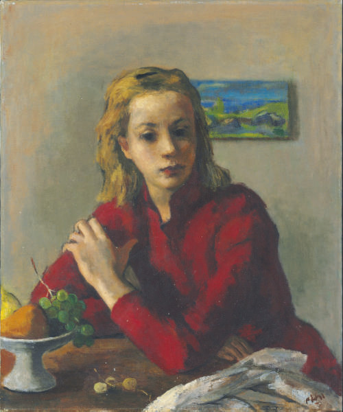 Girl in a Red Blouse