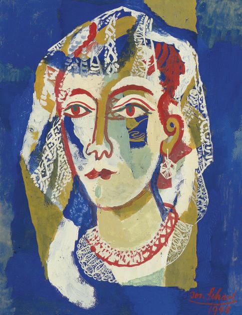 Portrait of a woman in a lace mantilla