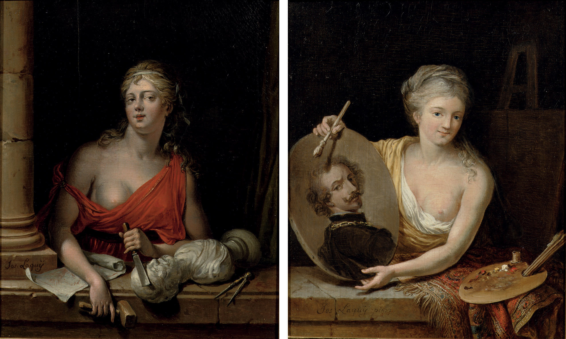 An Allegory of Painting; and An Allegory of Sculpture