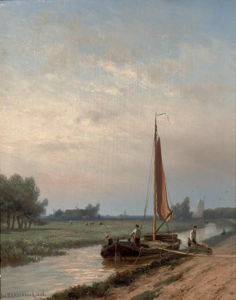 Unloading a barge on the Gooische vaart, Hilversum