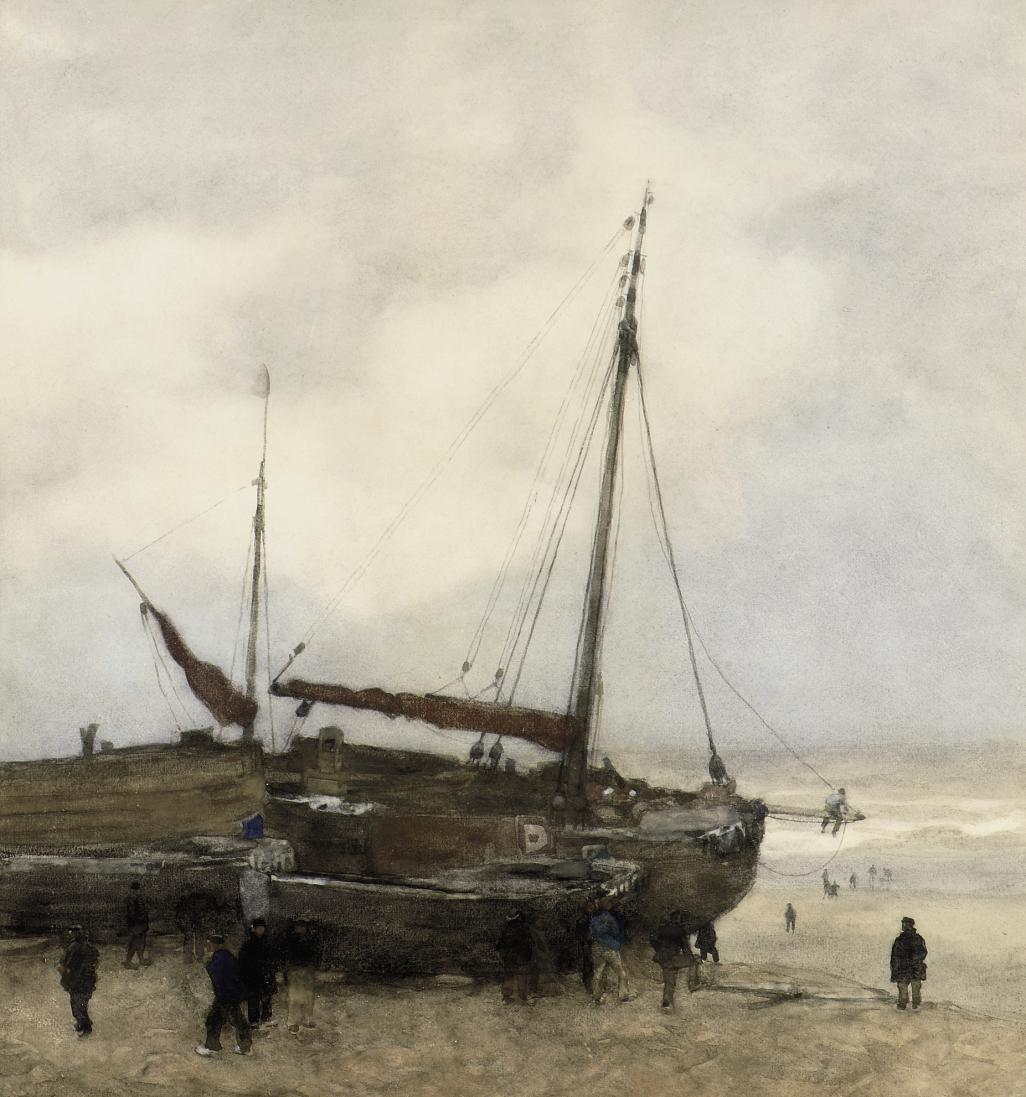 Fishing Boats on the Beach at Scheveningen