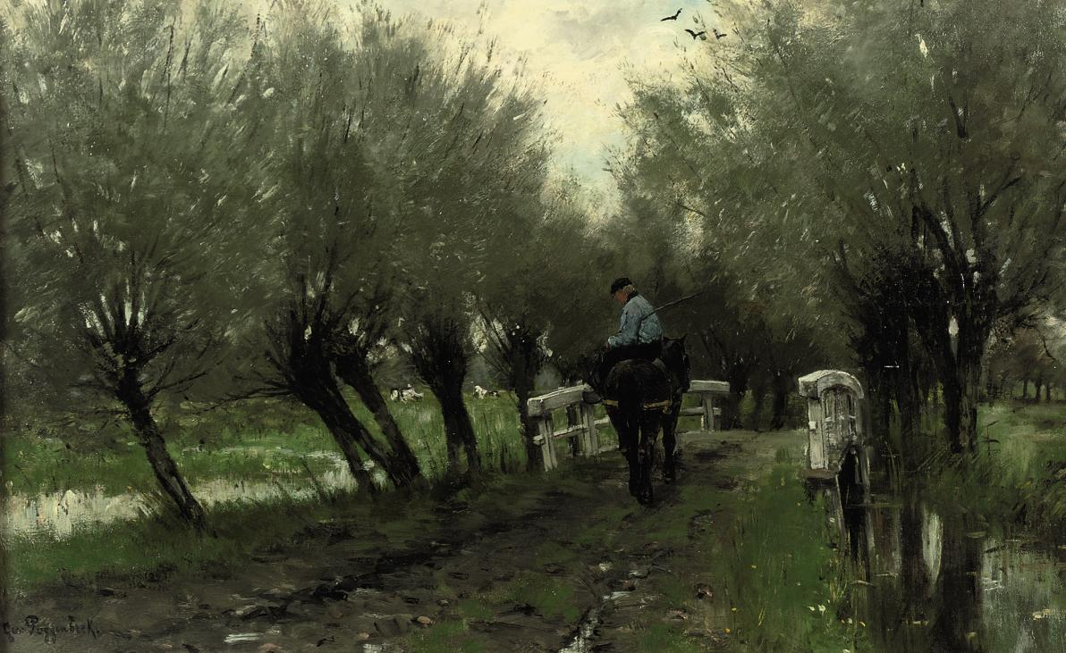 A Horseman on a Path