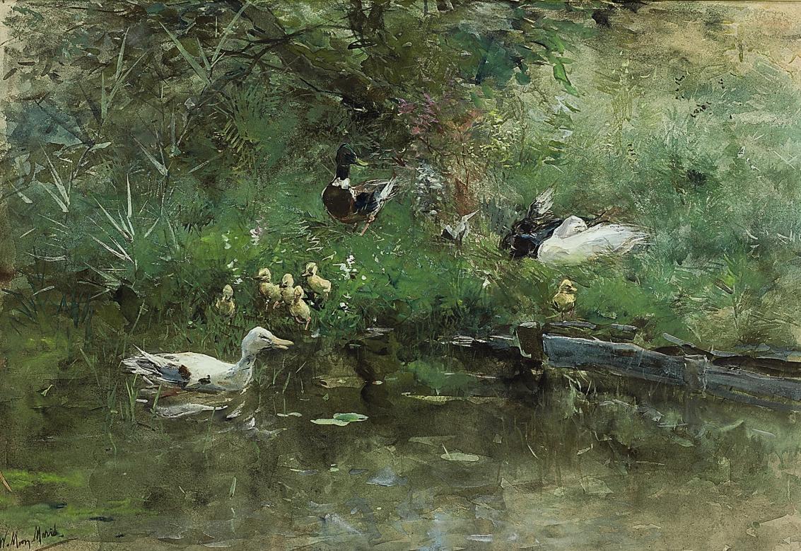 Eenden met kuikens: Ducks in a Meadow