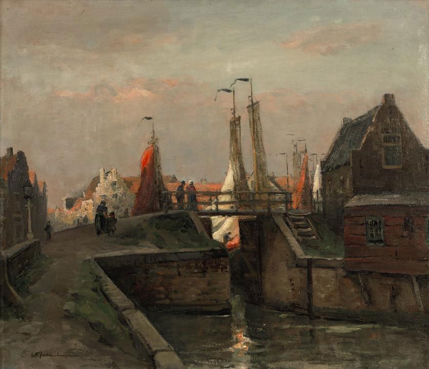 Sluis te Spakenburg: lock at Spakenburg