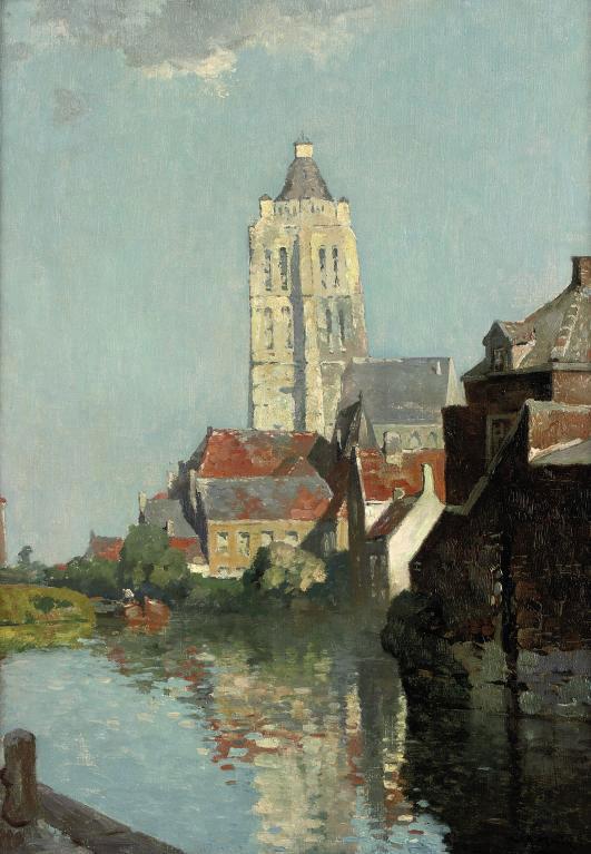 Oudenaarde: a view of the tower Oudenaarde
