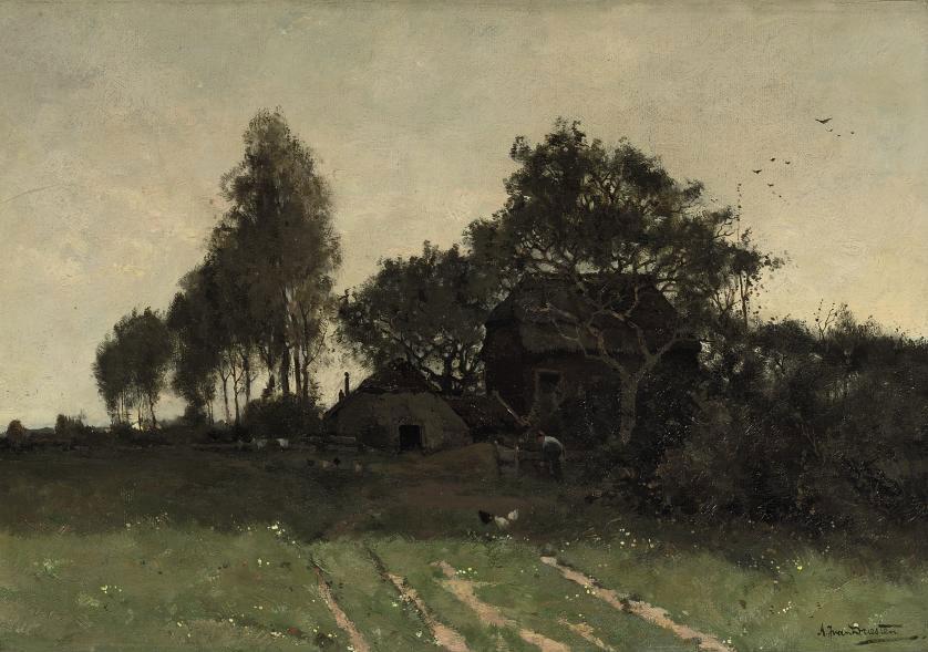 By the farmhouse