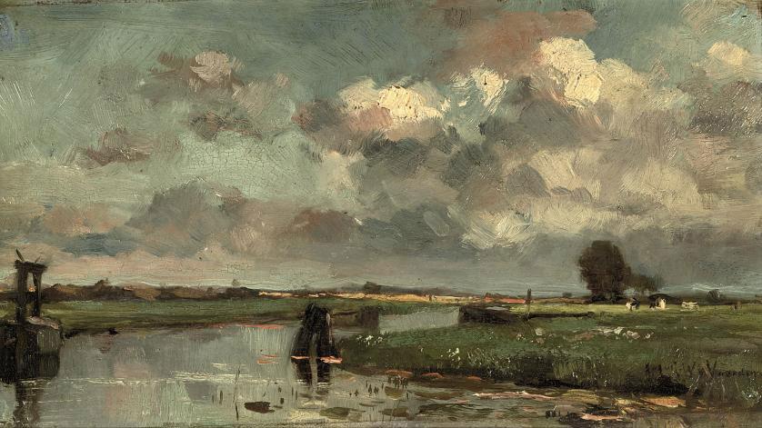 A polder landscape in summer