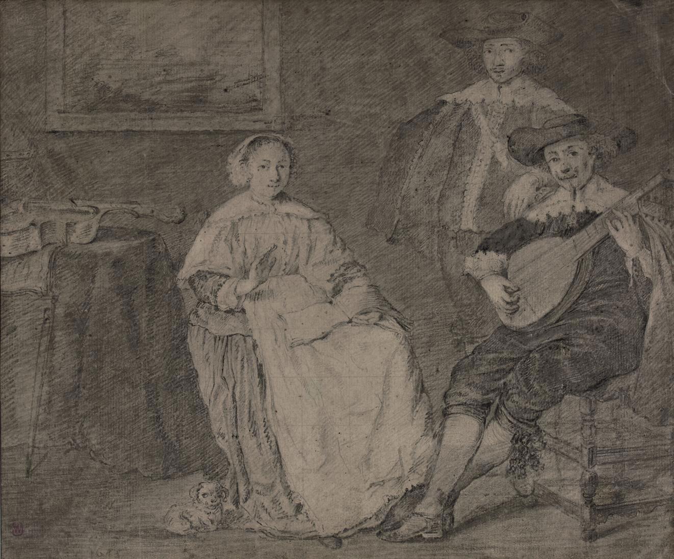 Musicians in an interior