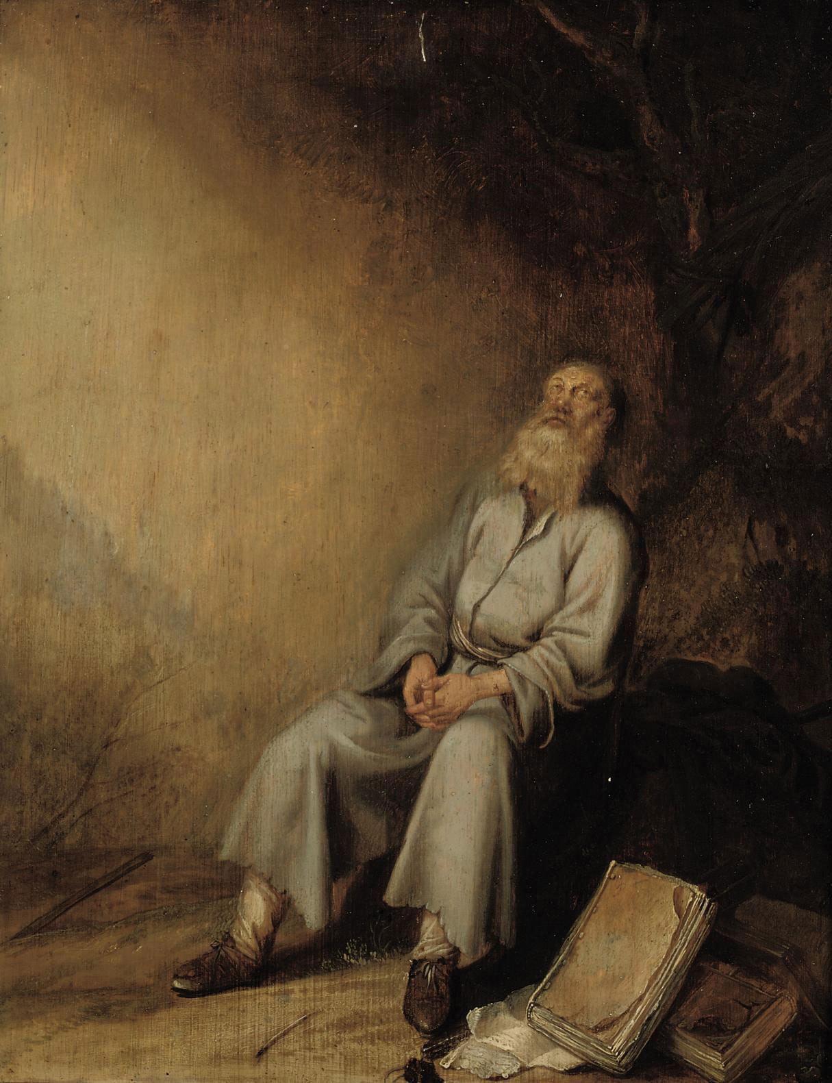 Jeremiah mourning the destruction of Jerusalem