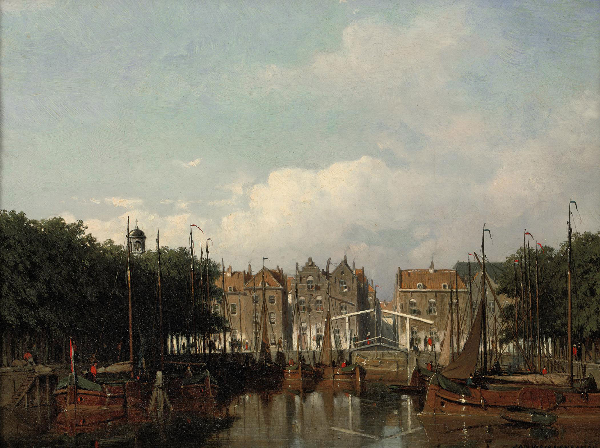The Harbour of Rotterdam in summer