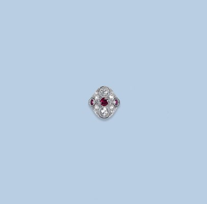 A BELLE EPOQUE RUBY AND DIAMON