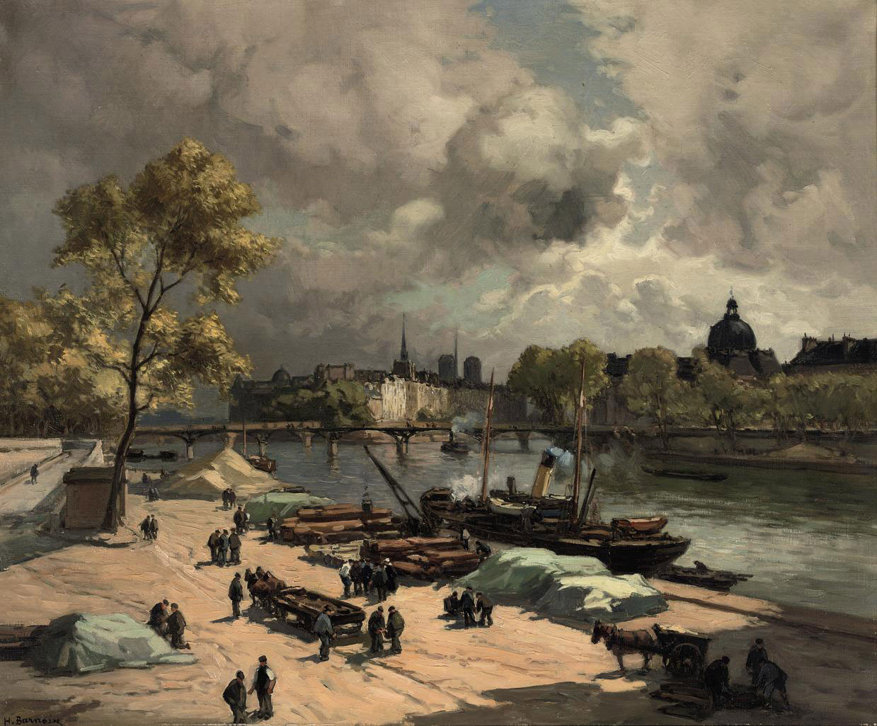Port St. Nicolas, bords de Seine: on a quay along the Seine, Paris