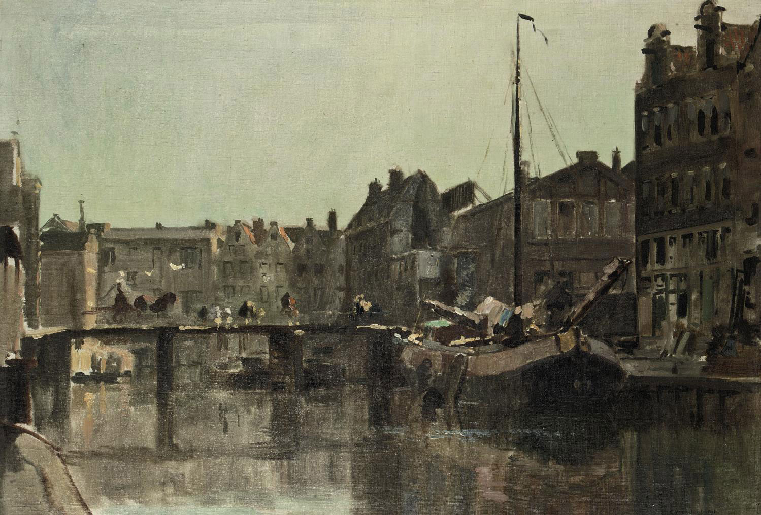 View on the Bickersgracht in Amsterdam