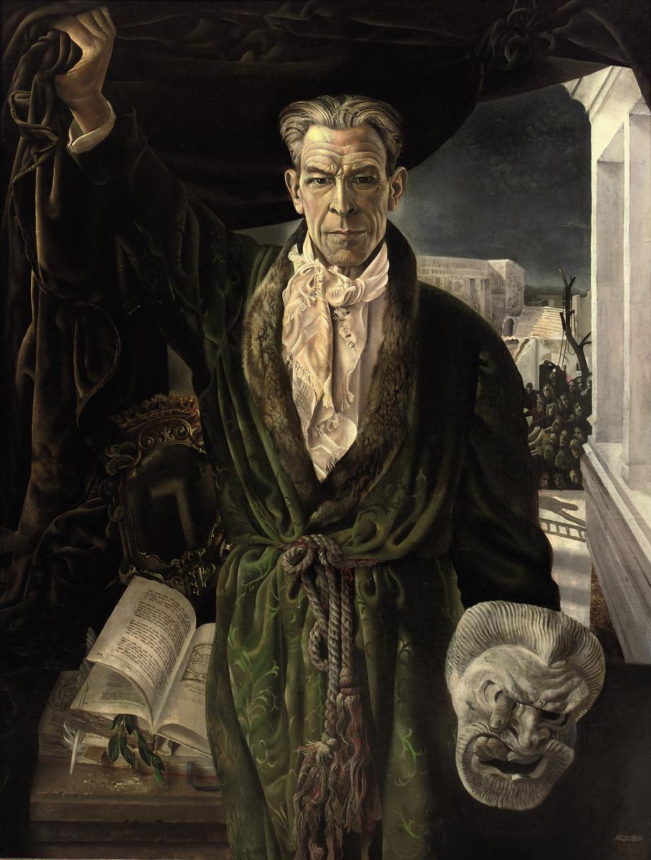 A portrait of the actor Louis van Gasteren Senior