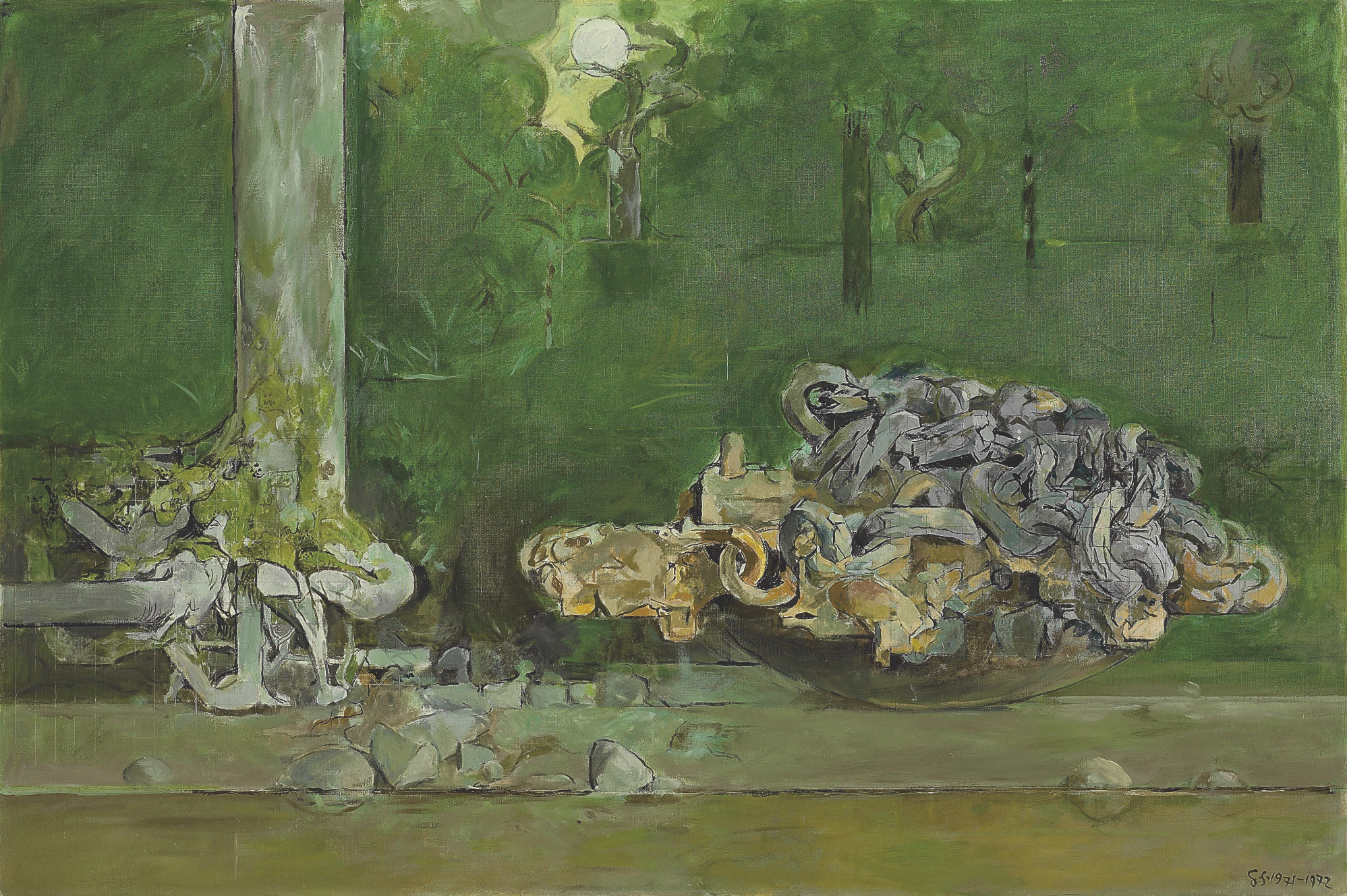 Forest with Chains