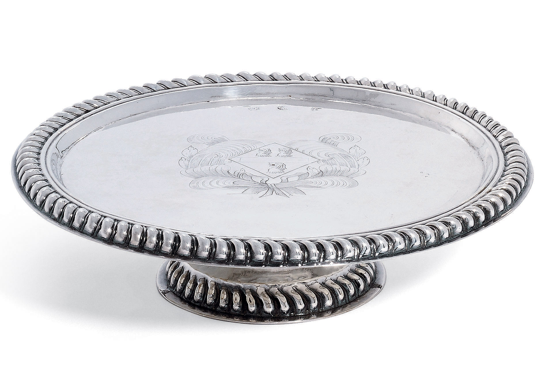 A WILLIAM AND MARY SILVER TAZZA