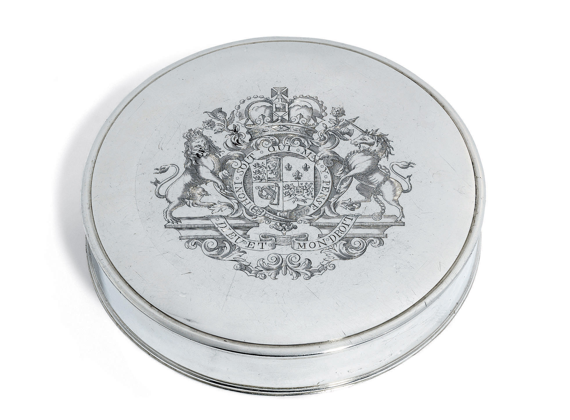 A GEORGE I SILVER SEAL-BOX