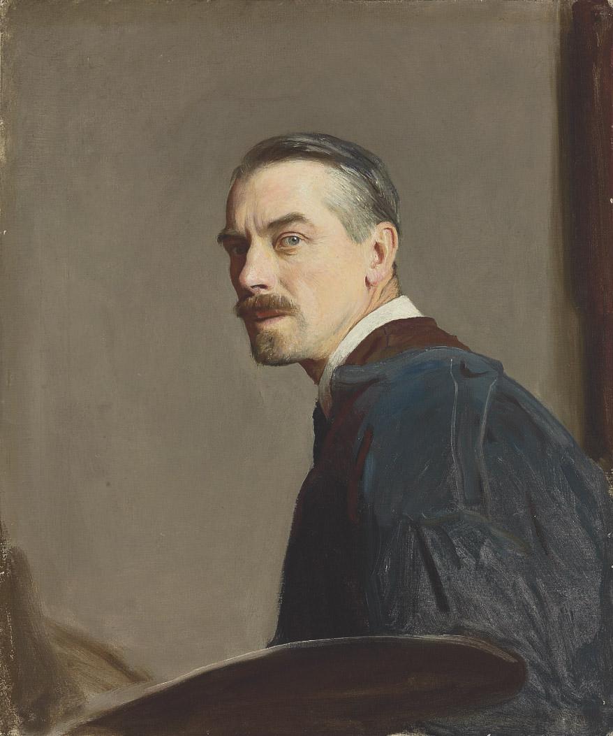 Self-portrait of the artist