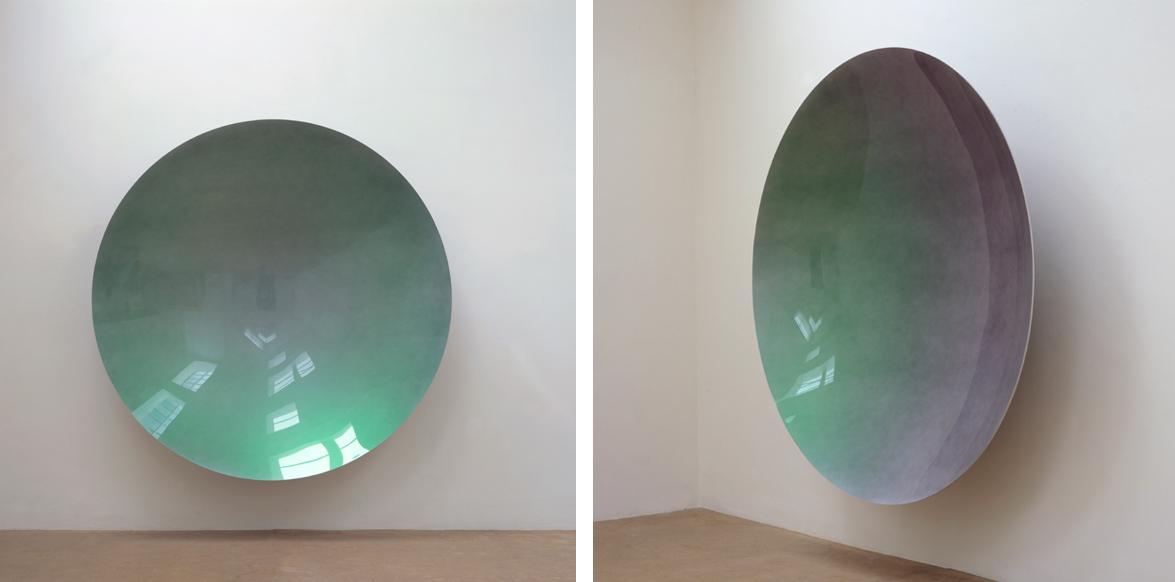 Untitled (Green Rainbow Mirror)