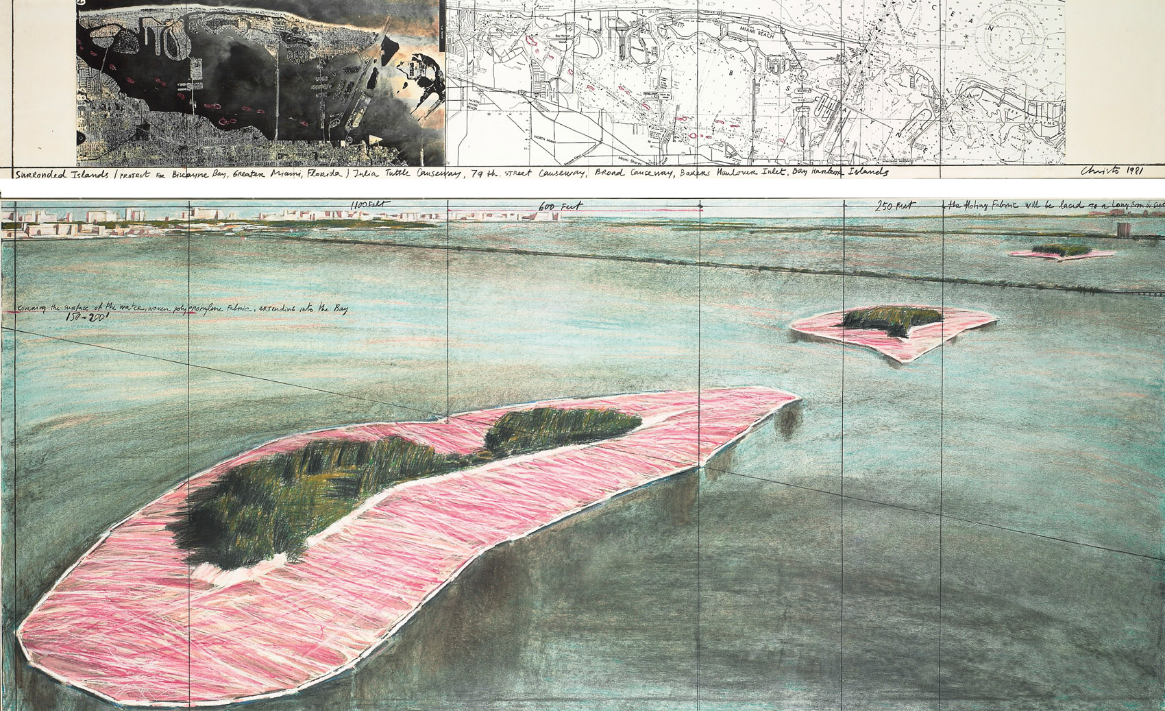 Surrounded Islands (Project for Biscayne Bay, Greater Miami, Florida)