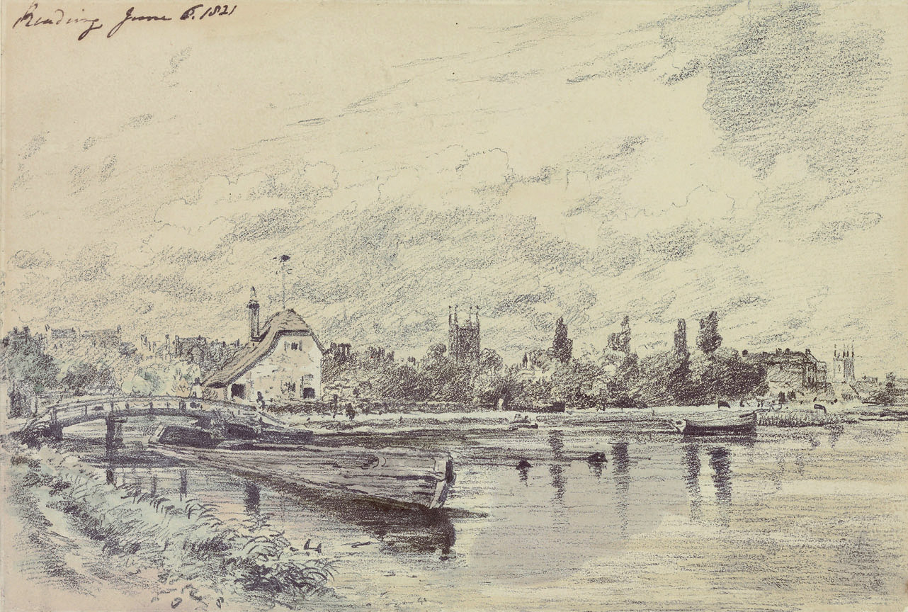 View of Reading from the River, Oxfordshire