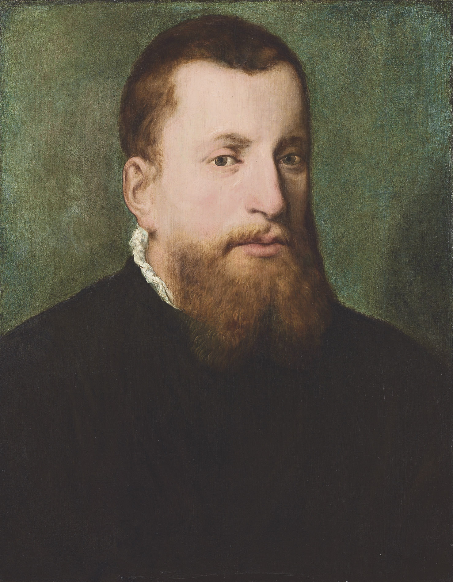 Portrait of a gentleman, bust-length, in a black coat