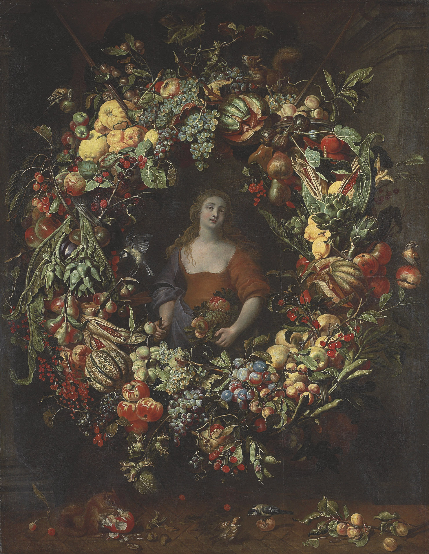 Pomona encircled by a garland of fruit