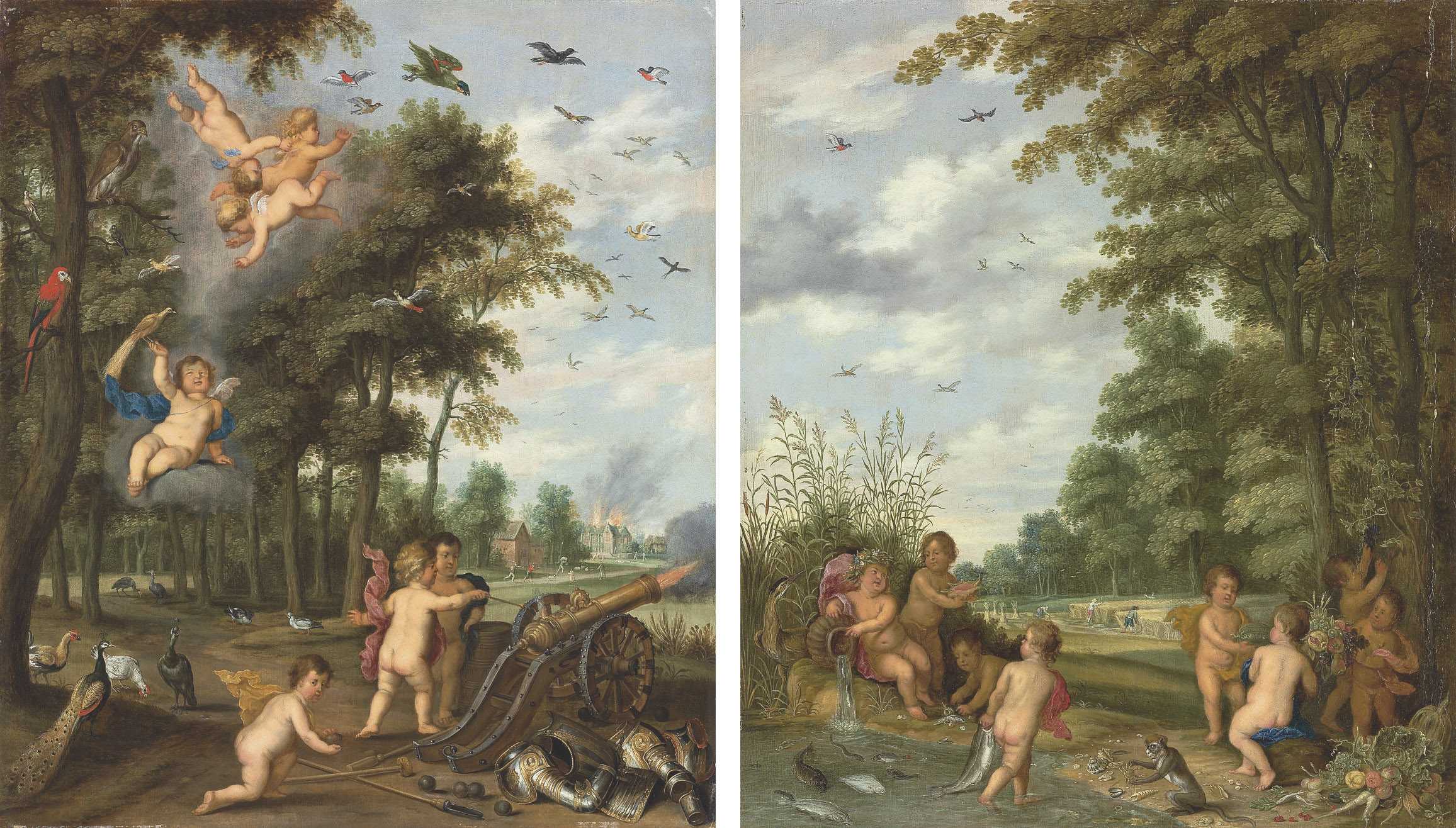 The Four Elements: An Allegory of Earth and Water; and An Allegory of Air and Fire
