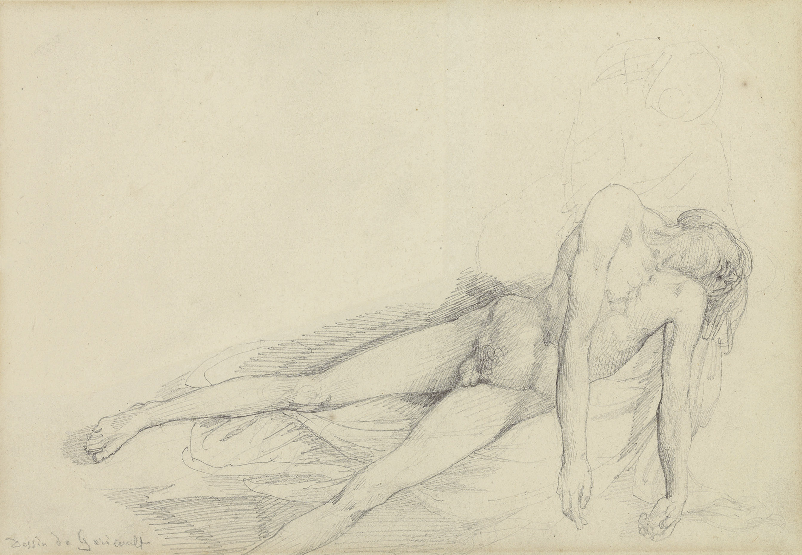 Study of a reclining male nude
