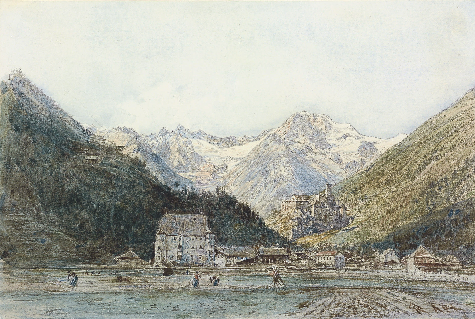 A town in a valley