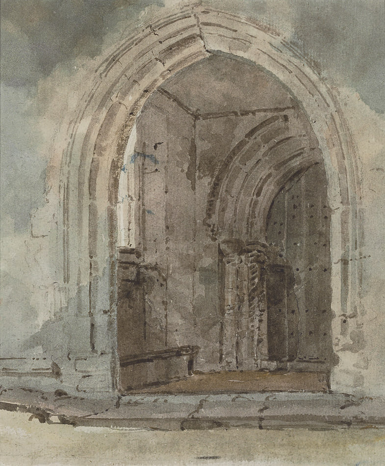 An abbey doorway