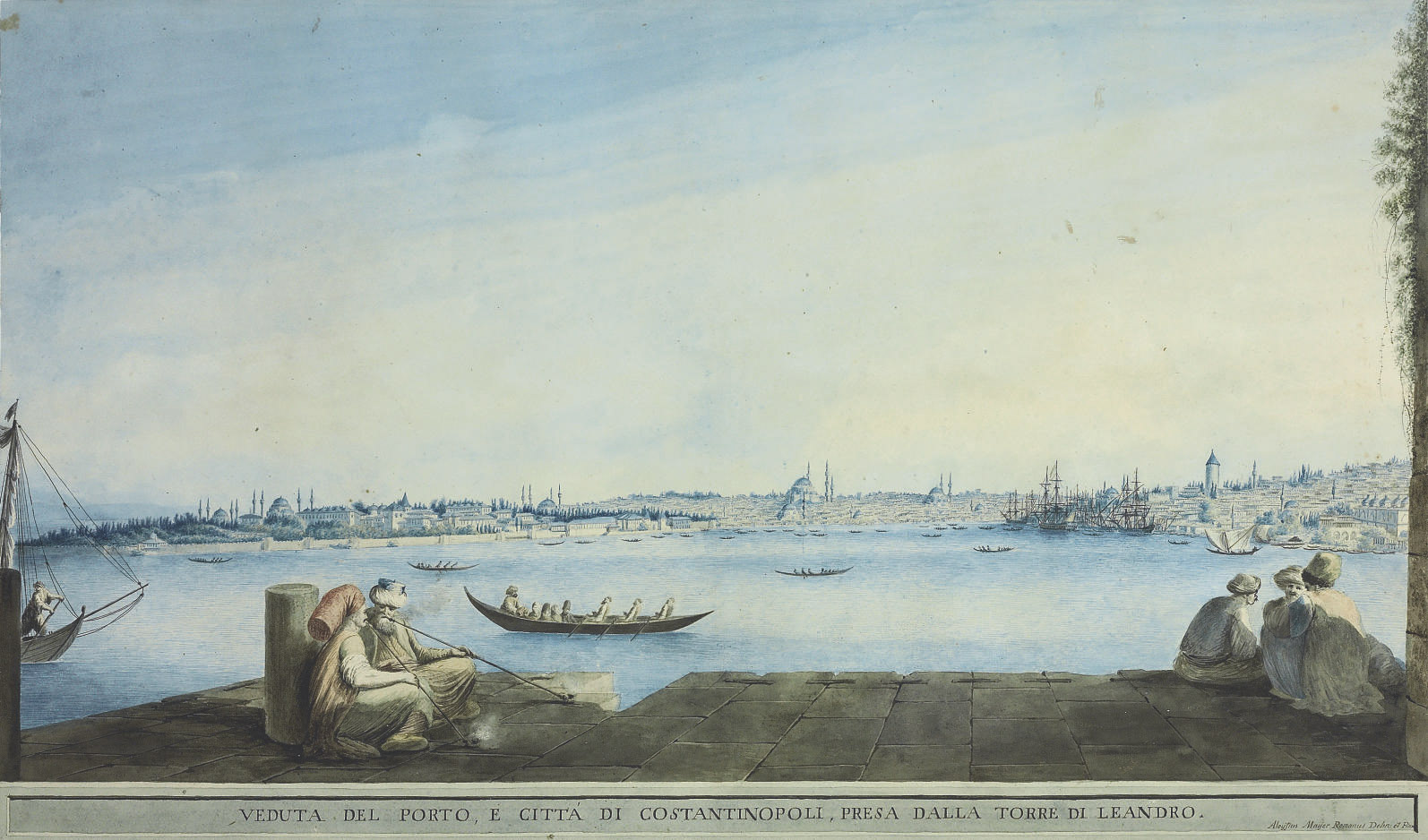 View of the port and the city of Constantinople, from Leander's Tower