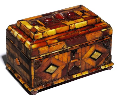 An ottoman amber box turkey 19th century christie 39 s for Interior design 07871