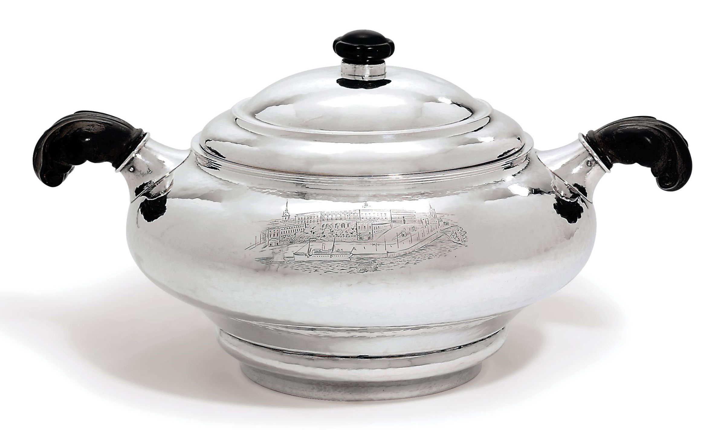 A DANISH SILVER TUREEN AND COVER