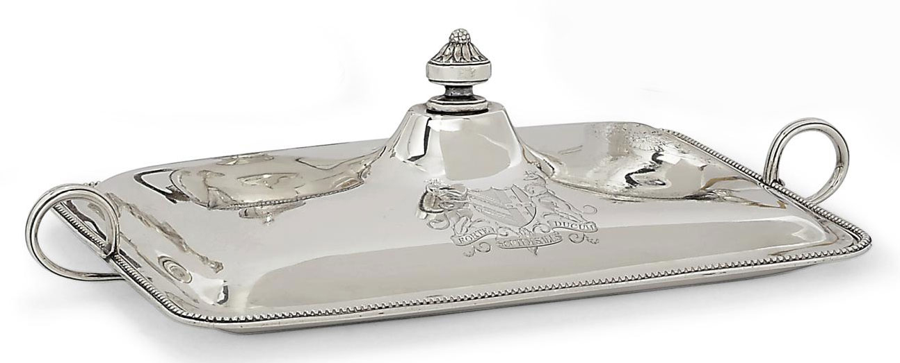 A GEORGE III SILVER TOASTED-CHEESE DISH