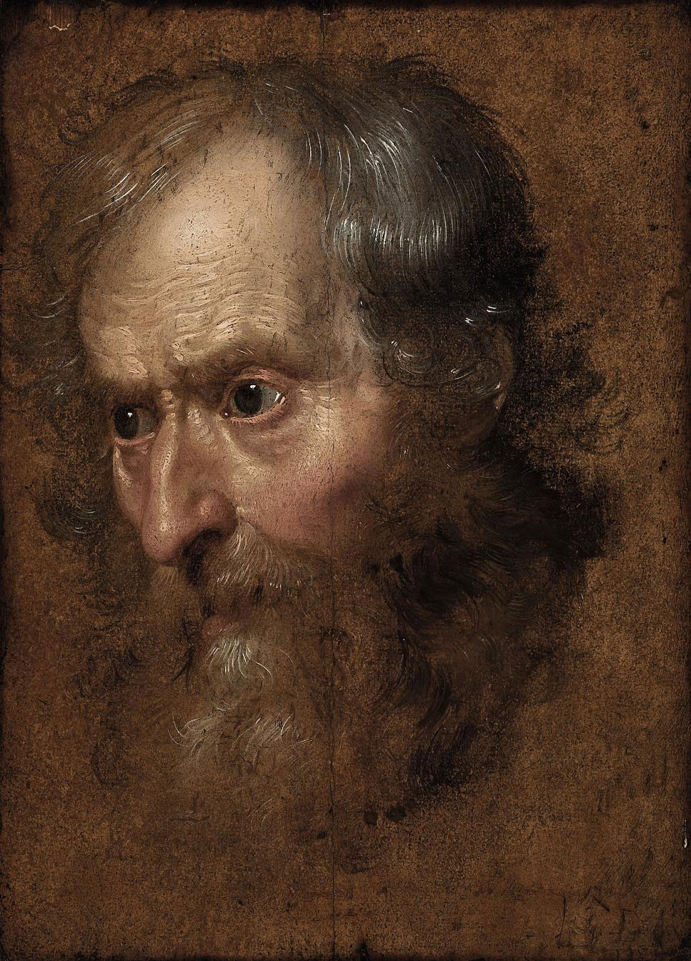 Study of the head of a man