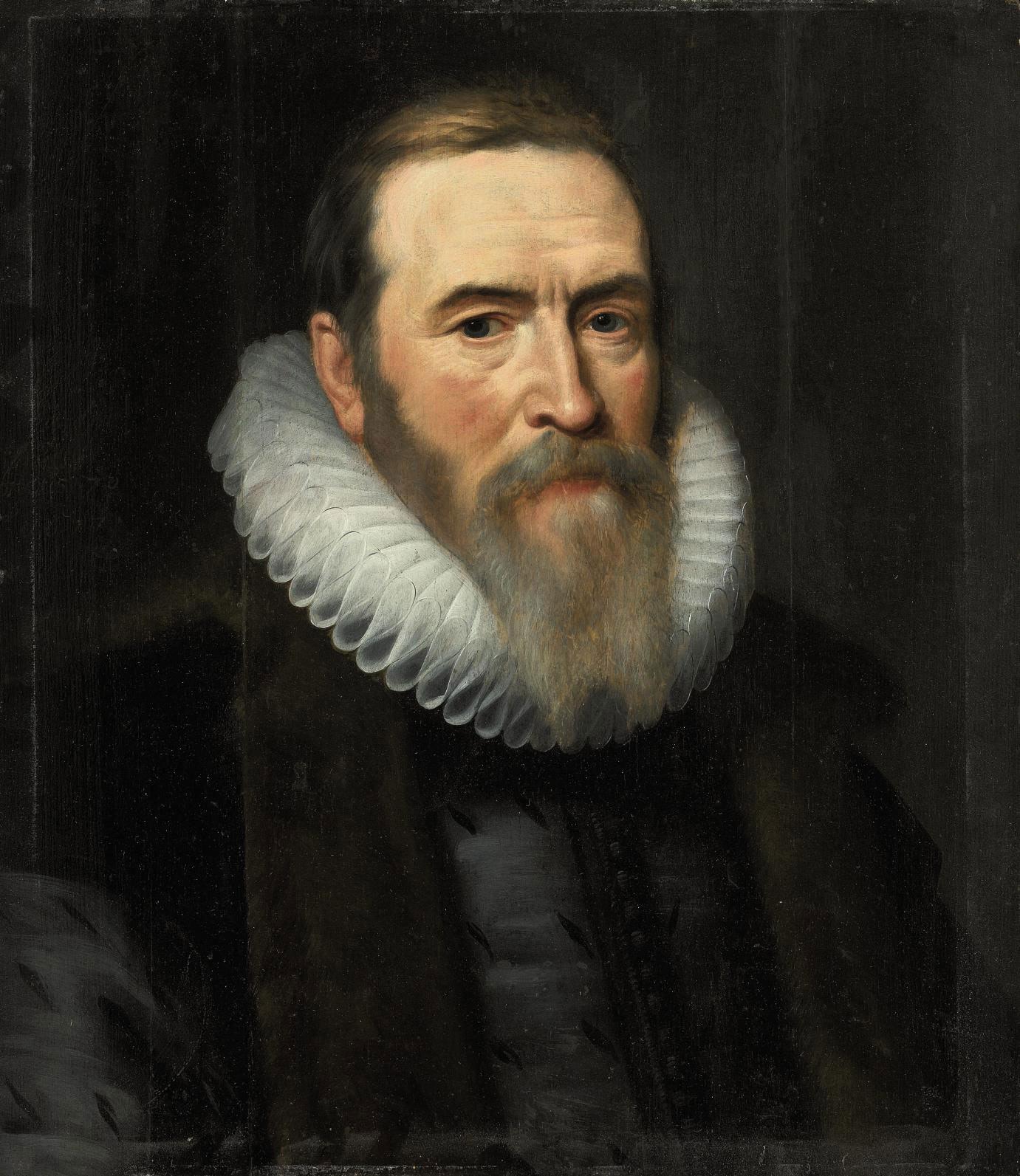 Portrait of Johan van Oldenbarnevelt (1547-1619), bust-length, in a fur-lined coat and white ruff
