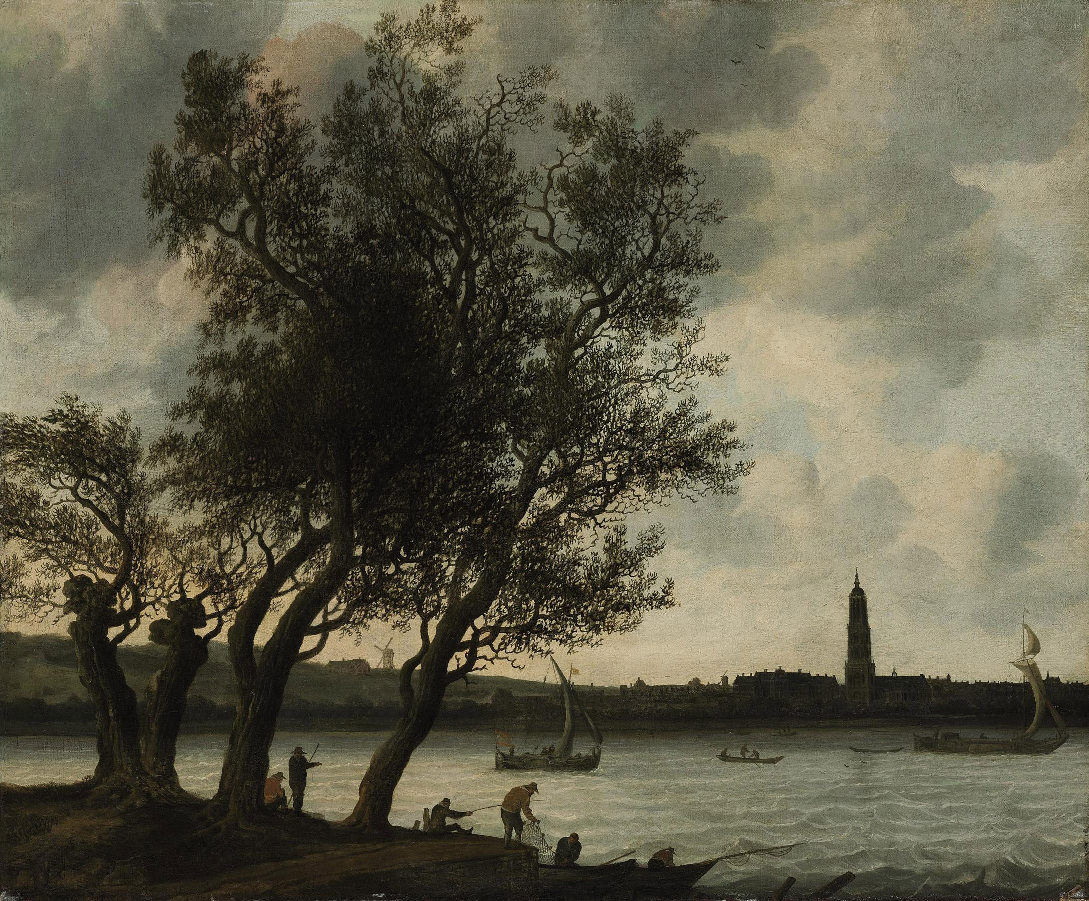 View of Rhenen from the South Bank of the Nederrijn