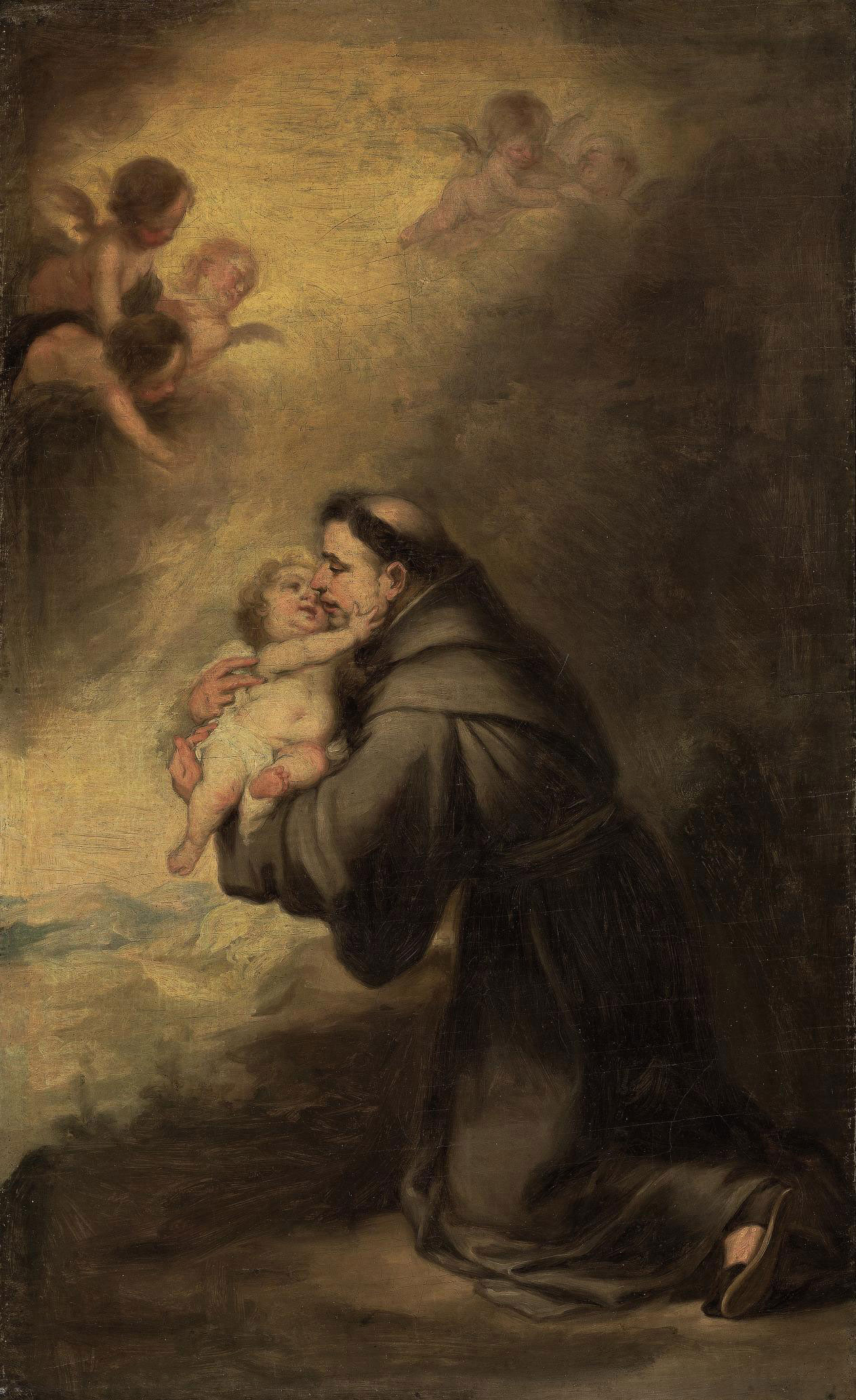 Saint Francis and the Christ Child, surrounded by putti