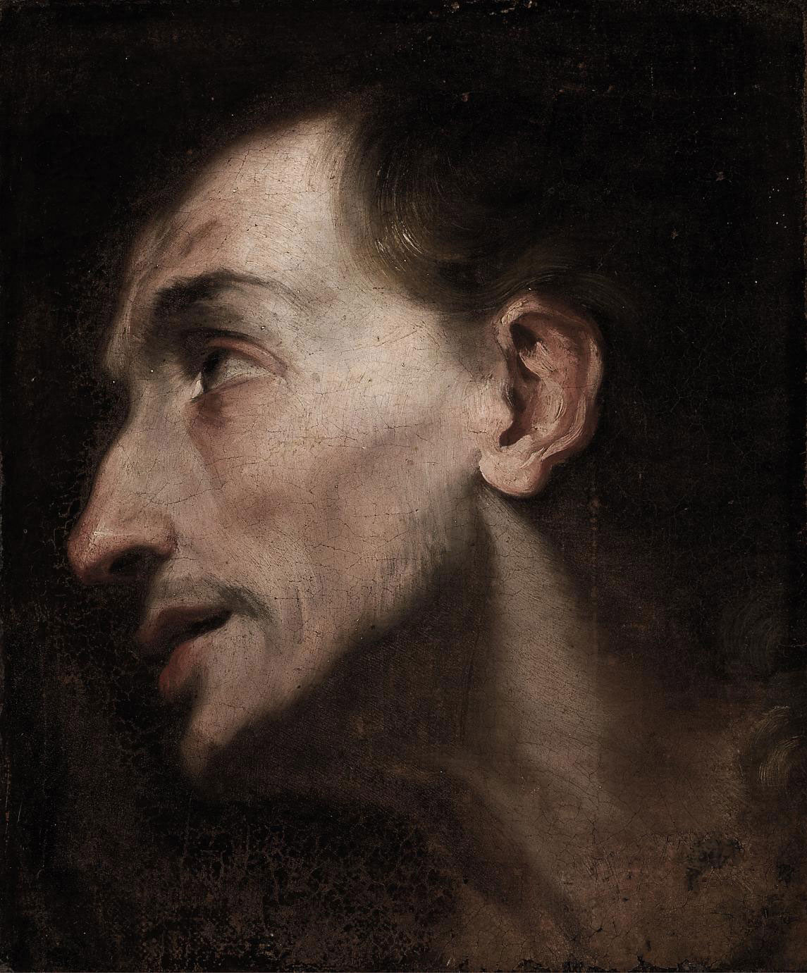 Study of the Head of a Saint