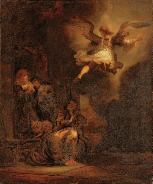 The Angel departing from the Family of Tobias